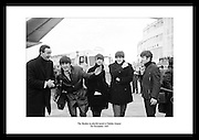 The Beatles in playful mood at Dublin Airport<br />