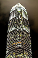 IFC Two dominates the Hong Kong skyline day or night with its sheer height and magnificence.