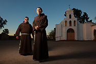 CLIENT: NPR<br /> <br /> Brother David Paz, right, and Father Ponchie Vasquez, left, at the San Solano Missions on the Tohono O'odham Nation in Arizona. The San Solano Missions were established in 1908 and its territory covers over 4450 square miles in the Sonoran Desert of southern Arizona.