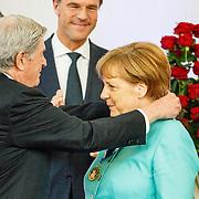NLD//Middelburg20160421 - Four Freedoms Awards 2016, Duitse bondskanselier Angela Merkel krijgt haar prijs