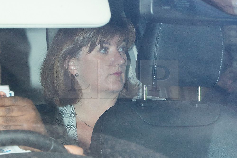 © Licensed to London News Pictures. 03/09/2019. London, UK. Secretary of State for Digital, Culture, Media and Sport  Nicky Morgan arrives at The Houses of Parliament. Parliament is returning from the summer recess today with MPs expected to try to stop a no-deal Brexit. Prime Minister Boris Johnson has threatened to hold a snap election if the legislation is passed.  Photo credit: George Cracknell Wright/LNP