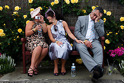 (c) under License to London News Pictures 02/11/2010. A racegoer a bit worse for wear at the 2010 Melbourne cup inside the exclusive invite only section know as the 'birdcage' .