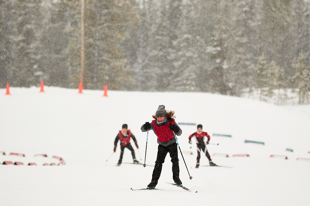 2020 Don Sumanik skate ski race was run on December 5, 2020 at the Mt Mac ski area in Whitehorse, Yukon.<br /> Red squad