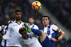 January 7, 2018 - Porto, Porto, Portugal - Porto's Spanish defender Ivan Marcano (R) vies with +g during the Premier League 2017/18 match between FC Porto and Vitoria SC, at Dragao Stadium in Porto on January 7, 2018. (Credit Image: © Dpi/NurPhoto via ZUMA Press)