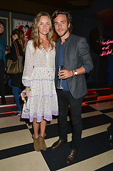 JACK SAVORETTI and JEMMA POWELL at a party to celebrate the launch of the new club Charlie, 15 Berkeley Street, London on 9th September 2015.
