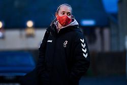 Flo Allen of Bristol City Women arrives at Twerton Park prior to kick off - Mandatory by-line: Ryan Hiscott/JMP - 14/11/2020 - FOOTBALL - Twerton Park - Bath, England - Bristol City Women v Tottenham Hotspur Women - Barclays FA Women's Super League