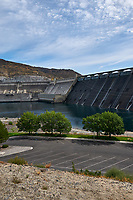 Grand Coulee Dam Panorama. Three of seven images taken with a Nikon D300 camera and 18-200 mm VR lens (ISO 200, 18 mm, f/11, 1/500 sec). Raw images processed with Capture One Pro, Photoshop and CC, NIK Color Efex. Panorama created using AutoPano Pro.