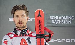 "29.01.2019, Planai, Schladming, AUT, FIS Weltcup Ski Alpin, Slalom, Herren, Siegerehrung, im Bild 1. Platz Marcel Hirscher (AUT) // Winner Marcel Hirscher of Austria during the winner Ceremony for the men's Slalom ""the Nightrace"" of FIS ski alpine world cup at the Planai in Schladming, Austria on 2019/01/29. EXPA Pictures © 2019, PhotoCredit: EXPA/ Dominik Angerer"