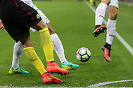 general action during the Premier league match, Swansea city v Manchester city at the Liberty Stadium in Swansea, South Wales on Saturday 24th September 2016.<br /> pic by Andrew Orchard, Andrew Orchard sports photography.
