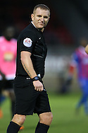 Referee Lee Swabey looks on. The Emirates FA Cup, 2nd round match, Dagenham & Redbridge v Whitehawk FC at the The London Borough of Barking & Dagenham Stadium in London on Sunday 6th December 2015.<br /> pic by John Patrick Fletcher, Andrew Orchard sports photography.