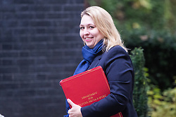 Downing Street, London, October 25th 2016. Secretary of State for Culture, Media and Sport Karen Bradley arrives at 10 Downing Street for the weekly cabinet following a Heathrow Third Runway Sub-Committee meeting at the same venue.