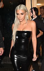 Kim Kardashian is seen at Milo's restaurant in New York with Johnathan Cheban<br /><br />7 September 2017.<br /><br />Please byline: Vantagenews.com