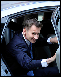 Culture Secretary Jeremy Hunt arrives at the Leveson Inquiry to give evidence, High Court, London, Thursday May 31, 2012.  Photo By Andrew Parsons/i-Images.