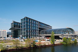 Hauptbahnhof central railway Station in Berlin Germany
