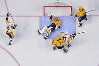in Game Three of the 2017 NHL Stanley Cup Final at the Bridgestone Arena on June 3, 2017 in Nashville, Tennessee.