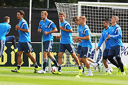 02.09.2015, Commerzbanarena, Frankfurt, GER, UEFA Euro 2016 Qualifikation, Deutschland, Training, im Bild Mats Hummels, Christopher Kramer, THomas Müller, Mueller, Toni Kroos und Bastain Schweinsteiger // during a training session of german national football team in front of the UEFA European Championship Qualifier matches against Poland and Scotland. Commerzbanarena in Frankfurt, Germany on 2015/09/02. EXPA Pictures © 2015, PhotoCredit: EXPA/ Eibner-Pressefoto/ Roskaritz<br /> <br /> *****ATTENTION - OUT of GER*****