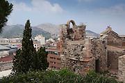 A view of the Roman amphitheatre at Cartagena (Nova Carthago), with the surrounding mountains as the backdrop.