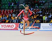 Irene Baj atleta della società Etruria di Prato durante la seconda prova del Campionato Italiano di Ginnastica Ritmica.<br /> La gara si è svolta a Desio il 31 ottobre 2015.
