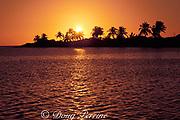 sunset at Walker's Cay, Bahamas Out Islands, ( Western Atlantic Ocean )