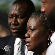 Mother of slain teenager Trayvon Martin, Sybrina Fulton, addresses the crowd during an afternoon rally for the shooting of her son, Trayvon Martin on Thursday, March 22, 2012 at Fort Mellon Park in Sanford, Florida. (AP Photo/Alex Menendez) Trayvon Martin rally in Sanford, Florida.