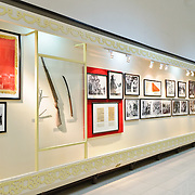 A wall of photos and other artefacts. The Museum of the Vietnamese Revolution in the Tong Dan area of Hanoi, not far from Hoan Kiem Lake, was established in 1959 and is devoted to the history of the socialist revolutionary movement in Vietnam.