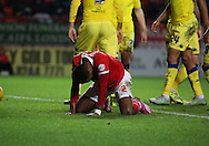 Charlton Athletic striker Ricardo Vaz Te unhappy during the Sky Bet Championship match between Charlton Athletic and Leeds United at The Valley, London, England on 12 December 2015. Photo by Matthew Redman.