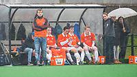 20170319 BLOEMENDAAL - landelijke jeugdcompetitie Bloemendaal Jongens JA1-Schaerweijde jongens JA1 (2-8). Steven van Tijn (r), coach van Bl'daal.  COPYRIGHT KOEN SUYK