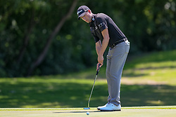 May 25, 2018 - Forth Worth, TX, U.S. - FORT WORTH, TX - MAY 25: Webb Simpson putts on #5 during the second round of the Fort Worth Invitational on May 25, 2018 at Colonial Country Club in Fort Worth, TX. (Photo by Andrew Dieb/Icon Sportswire) (Credit Image: © Andrew Dieb/Icon SMI via ZUMA Press)