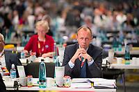 DEU, Deutschland, Germany, Hamburg, 07.12.2018: Friedrich Merz, der unterlegene Kandidat um das Amt des CDU-Vorsitzenden, beim Bundesparteitag der CDU in der Messe Hamburg.