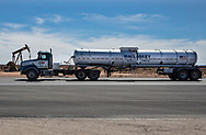 A truck in New Mexico's Permain Basin in Eddy County.