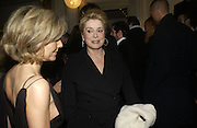 Catherine Deneuve. The Sidaction Party raising funds to treat AIDS, held during Haute Couture week  Spring/Summer 2006 at the Pavillon D'Armenonville, Bois de Boulogne.  Paris.  January 25 2006.  ONE TIME USE ONLY - DO NOT ARCHIVE  © Copyright Photograph by Dafydd Jones 66 Stockwell Park Rd. London SW9 0DA Tel 020 7733 0108 www.dafjones.com
