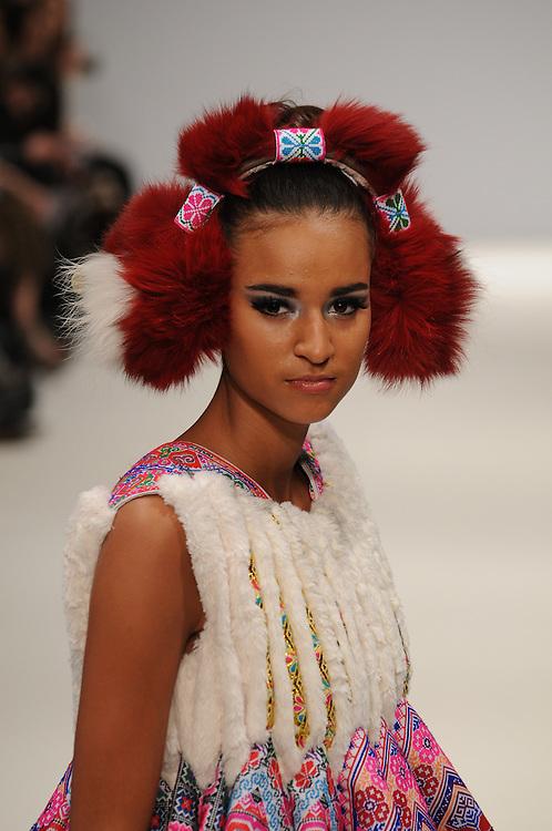 Models walk the runway for Nova Chiu AW 2012 fashion show during London Fashion Week, London, UK. 17/02/2012 Anne-Marie Michel/CatchlightMedia