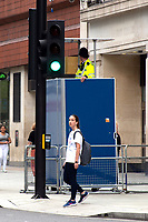 Police  observation platform along Oxford Street London to make the Public feel safer and try enforce social distancing rules photo byMark anton smith