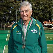 Ian King, Australia, Semi Finalist, 70 Mens Singles competition during the 2009 ITF Super-Seniors World Team and Individual Championships at Perth, Western Australia, between 2-15th November, 2009