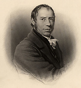 Richard Trevithick (1771-1833) English engineer and inventor, born near Redruth, Cornwall.  Between 1800and 1815 he built a number of steam-powered road  vehicles and railway locomotives. Engraving from 'Life Richard Trevithick' by Francis Trevithick (London, 1872).