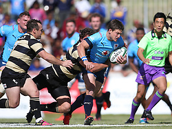Piet van Zyl of the Blue Bulls attempts to break the tackle during the Currie Cup premier division match between the Boland Cavaliers and The Blue Bulls held at Boland Stadium, Wellington, South Africa on the 23rd September 2016<br /> <br /> Photo by:   Shaun Roy/ Real Time Images