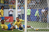 Neymar of Brazil reacts after scoring during the 2018 FIFA World Cup Russia, round of 16 football match between Brazil and Mexico on July 2, 2018 at Samara Arena in Samara, Russia - Photo Thiago Bernardes / FramePhoto / ProSportsImages / DPPI