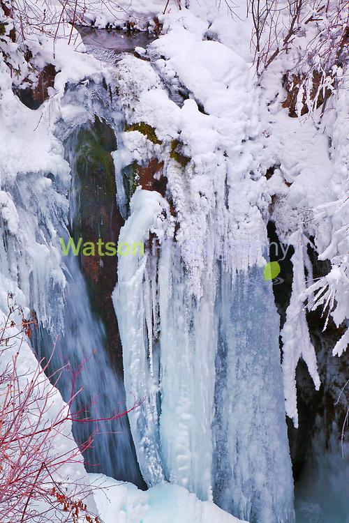 Roughlock Winter Falls