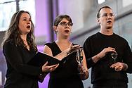 German avantgarde choir Cantus Domus at St George's Church as part of Haldern Pop Festival