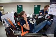 Teamleden werken aan de VeloX in Battle Mountain. Het Human Power Team Delft en Amsterdam, dat bestaat uit studenten van de TU Delft en de VU Amsterdam, is in Amerika om tijdens de World Human Powered Speed Challenge in Nevada een poging te doen het wereldrecord snelfietsen voor vrouwen te verbreken met de VeloX 8, een gestroomlijnde ligfiets. Het record is met 121,81 km/h sinds 2010 in handen van de Francaise Barbara Buatois. De Canadees Todd Reichert is de snelste man met 144,17 km/h sinds 2016.<br /> <br /> With the VeloX 8, a special recumbent bike, the Human Power Team Delft and Amsterdam, consisting of students of the TU Delft and the VU Amsterdam, wants to set a new woman's world record cycling in September at the World Human Powered Speed Challenge in Nevada. The current speed record is 121,81 km/h, set in 2010 by Barbara Buatois. The fastest man is Todd Reichert with 144,17 km/h.