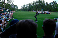 Dustin Johnson (USA) on the 14th tee during the 1st round at the The Masters , Augusta National, Augusta, Georgia, USA. 11/04/2019.<br /> Picture Fran Caffrey / Golffile.ie<br /> <br /> All photo usage must carry mandatory copyright credit (© Golffile | Fran Caffrey)