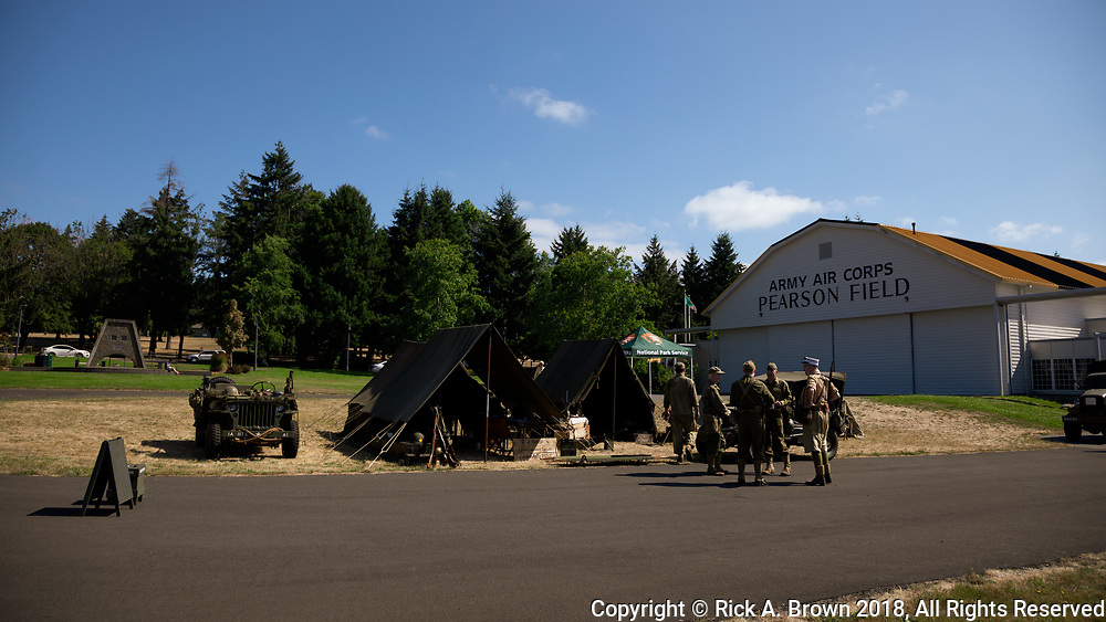 Living history display at Pearson Air Museum.