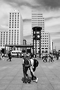 Berlin GERMANY,  General View of the Potsdamer Platz, Bahnhof/ station area, Tuesday 16/06/2009, [Mandatory Credit. Peter Spurrier/Intersport Images] Street Photos