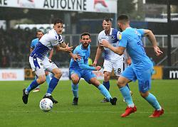 Coventry City's Tony Andreu flicks the ball onto Conor Chaplin