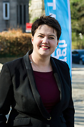 Pictured: Ruth Davidson <br /> <br /> Scottish Conservative leader Ruth Davidson visited Stockbridge in Edinburgh today as she continues o the campaign trail.<br /> <br /> Ger Harley   EEm 25 March 2016