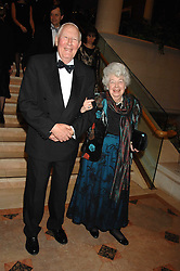 SIR ROGER & LADY BANNISTER at the Morgan Stanley Great Britons Awards at The Guildhall, City of London on 31st January 2008.  Conservative party leader David Cameron presenter a lifetime achievement award to former Prime Minister Baroness Thatcher.<br /> <br /> NON EXCLUSIVE - WORLD RIGHTS (EMBARGOED FOR PUBLICATION IN UK MAGAZINES UNTIL 2 WEEKS AFTER CREATE DATE AND TIME) www.donfeatures.com  +44 (0) 7092 235465