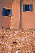 Windows in Roussillon, Provence, France