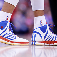 21 April 2014: Close view of Los Angeles Clippers forward Matt Barnes (22) shoes during the Los Angeles Clippers 138-98 victory over the Golden State Warriors, during Game Two of the Western Conference Quarterfinals of the NBA Playoffs, at the Staples Center, Los Angeles, California, USA.