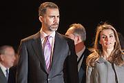 Princess Letizia Ortiz and Felipe de Borbon in the Opening of ARCO Art Fair in Madrid