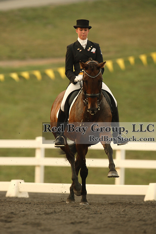 Alexandra Duncan (CAN) and Elektra at the 2007 CN North American Junior and Young Riders' Championships held at the Virginia Horse Center in Lexington, Virginia